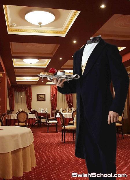 قالب جميل لجرسون يعمل فى مطعم من رافعى الخاص