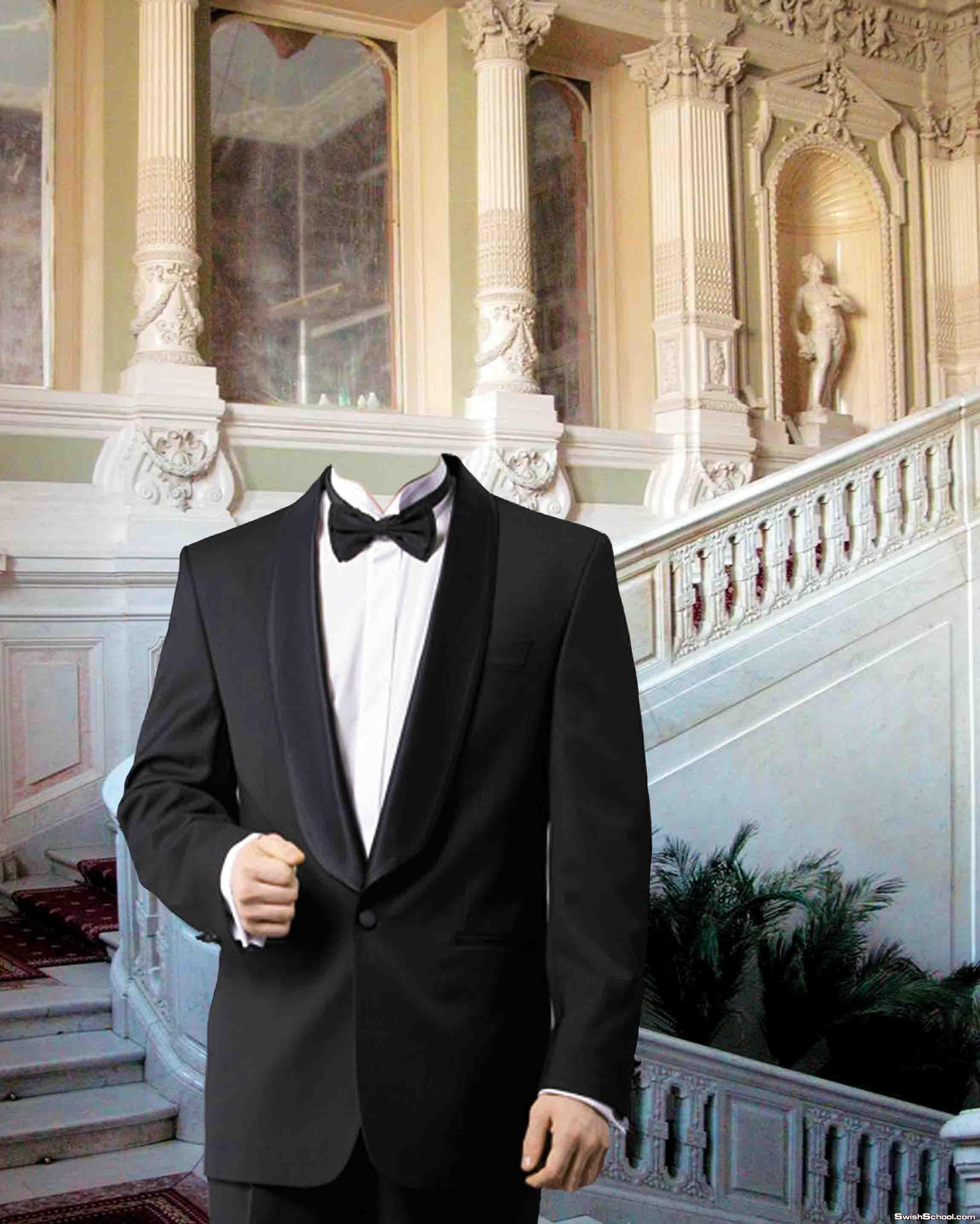 قالب لراجل يرتدى بدلة smoking رائع