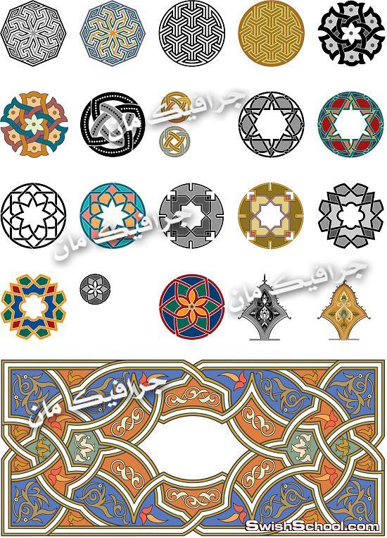 جرافيك فيكتور زخارف اسلاميه eps - فيكتور للتصاميم الاسلاميه