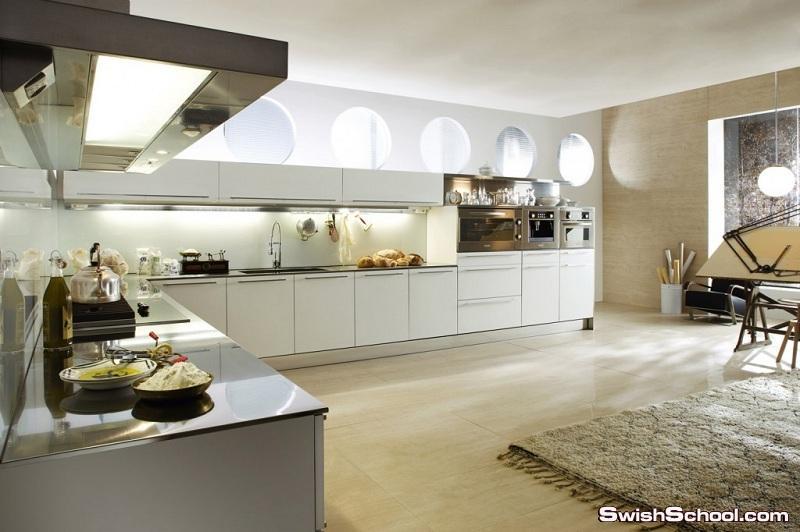تصاميم مودرن للمطابخ الإيطالية المفتوحه 2014