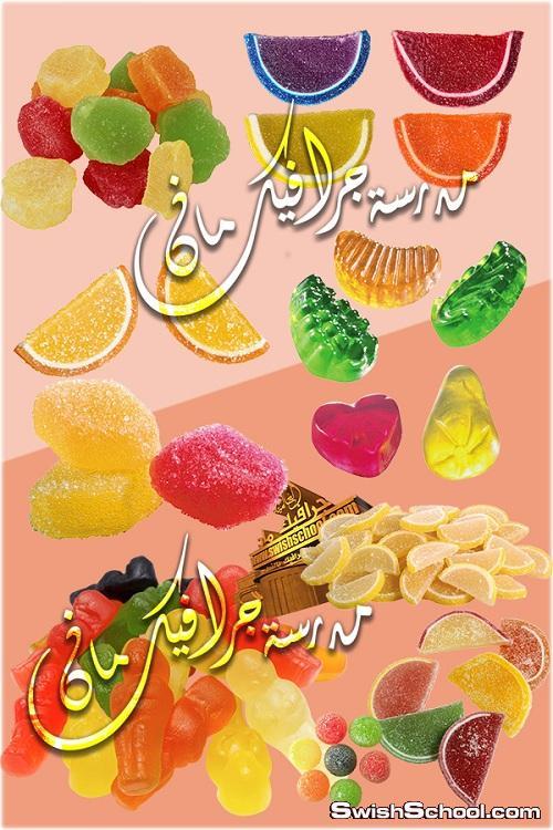 صور مفرغه حلويات وشكولاته وملبس وبون بوني png - كليب ارت لتصاميم الدعايه والاعلان