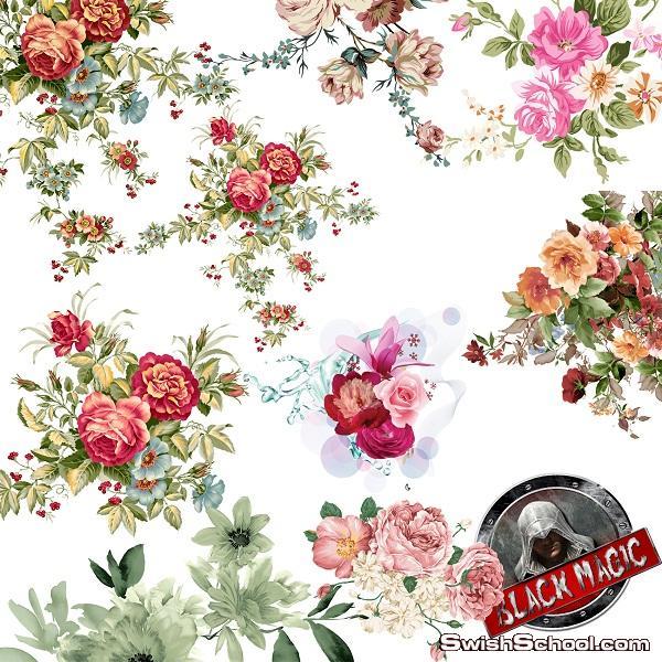 صور زخارف زهور منتهى الروعة بخلفية شفافة