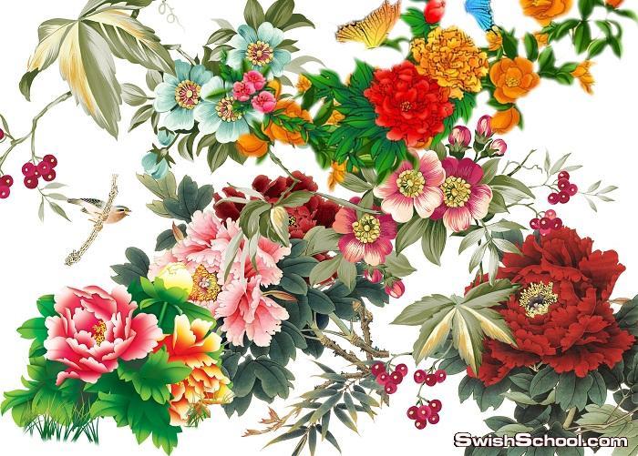 خلفيات طبيعة وورود قابلة للتعديل psd