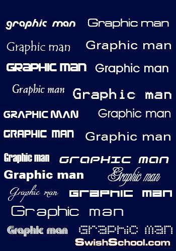 تحميل جميع الخطوط الانجليزية المستخدمة في عمل الشعارات وكروت الاعمال