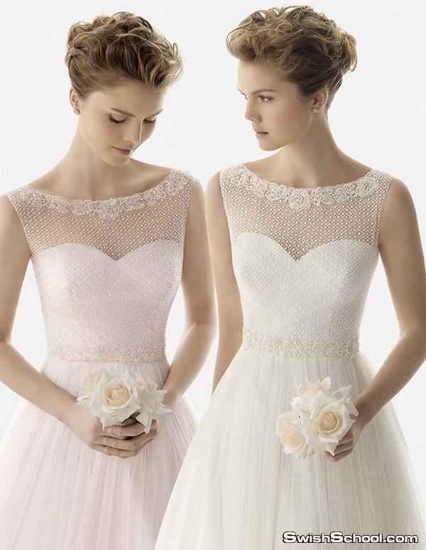 فساتين زفاف وافراح كلاسك للعروس الجديده - فساتين اعراس اوربيه 2015