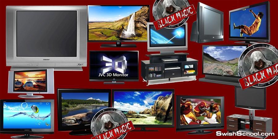 كولكشن صور تليفزيون عادى و lcd مقصوصة بجودة عالية psd