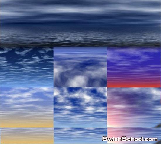 مجموعة خلفيات للسماء والغيوم