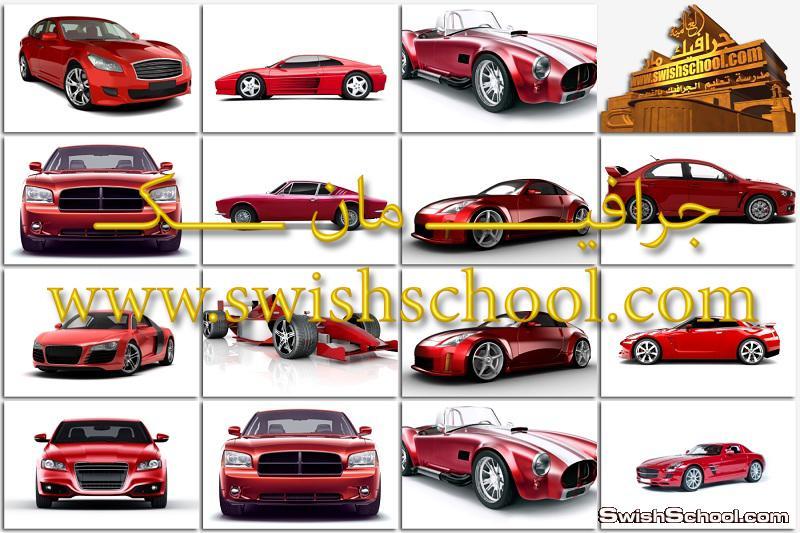 خلفيات سيارات رياضيه حمراء بدقه ممتازه للتصميم والتفريغ 2014