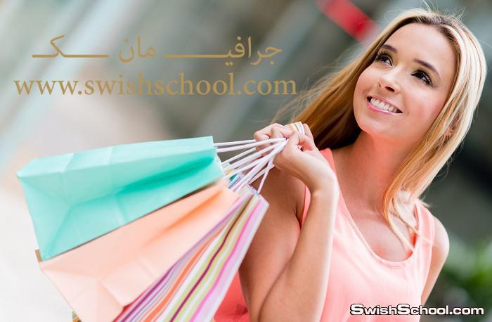 ستوك فوتو عالي الجوده بنات تتسوق لتصاميم اليفط في الدعايه والاعلان 2014