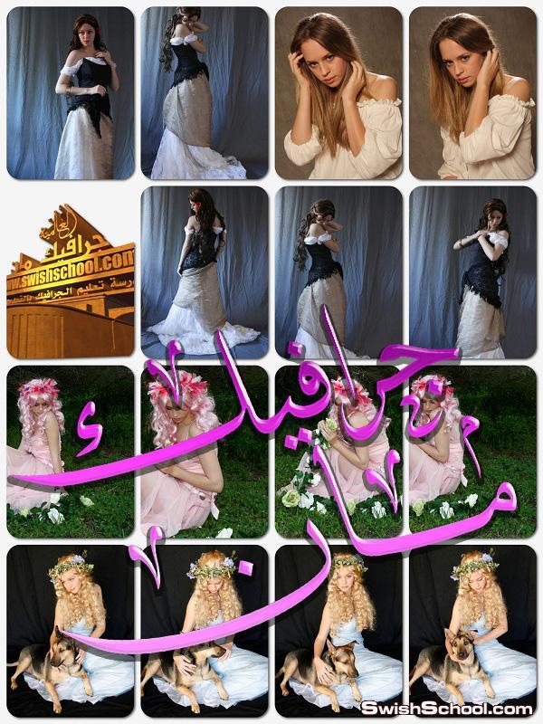 خلفيات جرافيك بنات بوضعيات مختلفه لتصاميم الفوتوشوب 2015 - صور بنات بفستان ابيض للمصممين jpg - الجزء الثالث