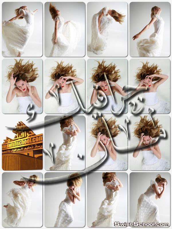 خلفيات جرافيك بنات بوضعيات مختلفه لتصاميم الفوتوشوب 2015 - صور بنات بفستان ابيض للمصممين jpg - الجزء الخامس