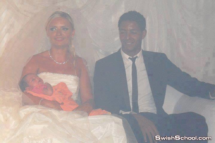 عريس و عروسه و بيبي في الكوشه