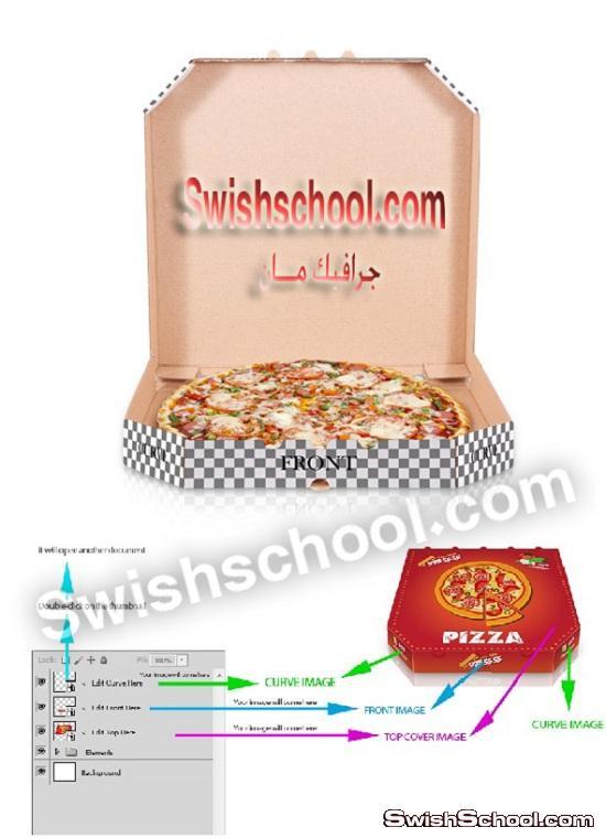 موك اب علبه بيتزا psd - ملفات مفتوحه للدعايه والاعلان 2014