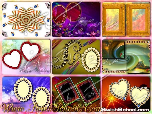 خلفيات فوتوشوب شرقية مع اطارات قلوب واشكال جميلة متنوعة  jpg خلفيات لتصاميم الصور الرومانسية  ( الجزء الاول )