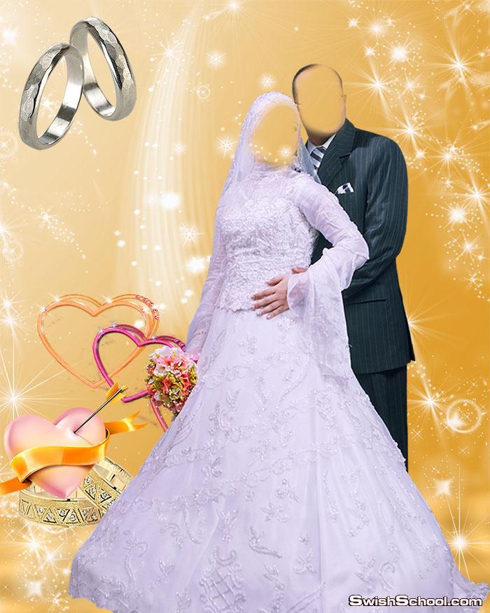 خلفيات استوديو زفاف مفتوحة للتصاميم صور الافراح psd - خلفيات جرافيك عرايس تصميم هاجر  2015