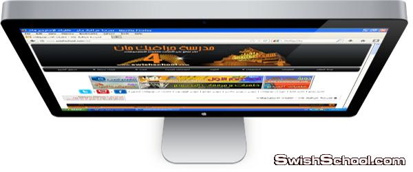 3 أكشنات لوضع الصورة داخل شاشة كمبيوتر بأوضاع مختلفة 3d جديد 2014