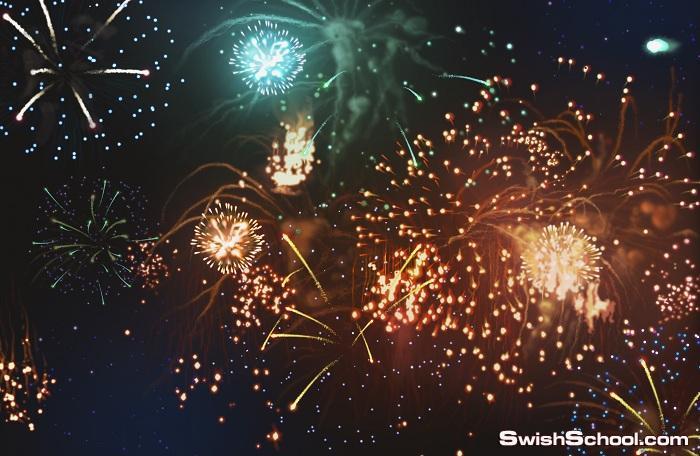 خلفيات احتفلات والعاب ناريه لتصاميم المناسبات السعيده jpg - ستوكات السنه الجديد 2014