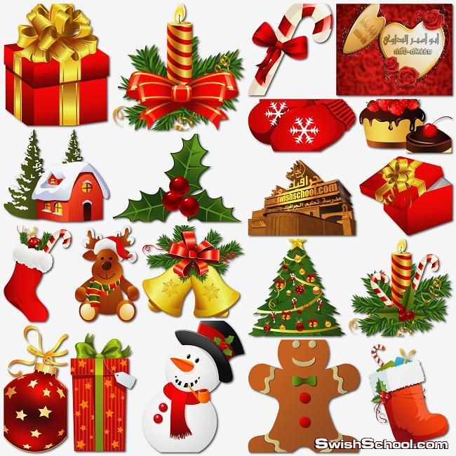 سكرابز اشكال زينة لمناسبة رأس السنة الكريسماس 2014