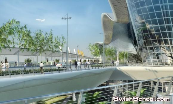 التصميم المعماري الجديد لمطار ابو ظبي الدولي