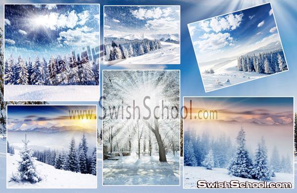 خلفيات وستوكات مناظر الثلوج على قمم الجبال - خلفيات جرافيك 2013