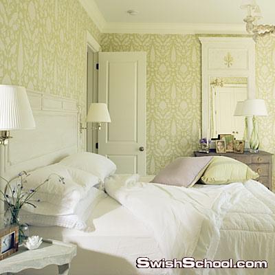 غرف نوم مودرن باللون الابيض 2013