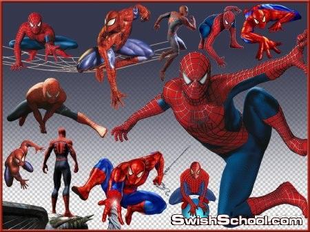 صور مقصوصه الرجل العنكبوت للاطفال png