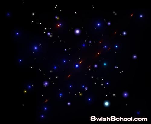 مؤثرات نجوم شفافه png ملونه لاضافتها على التصاميم الغامقه 2013