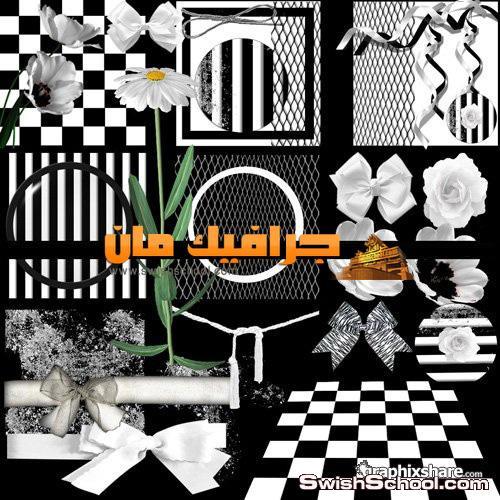 سكرابز ابيض واسود png روعه للتصميم 2013