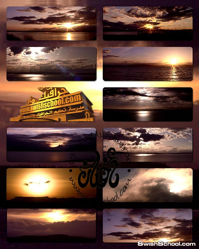 خلفيات فيديو فوتاج غروب الشمس - لبرامج المونتاج