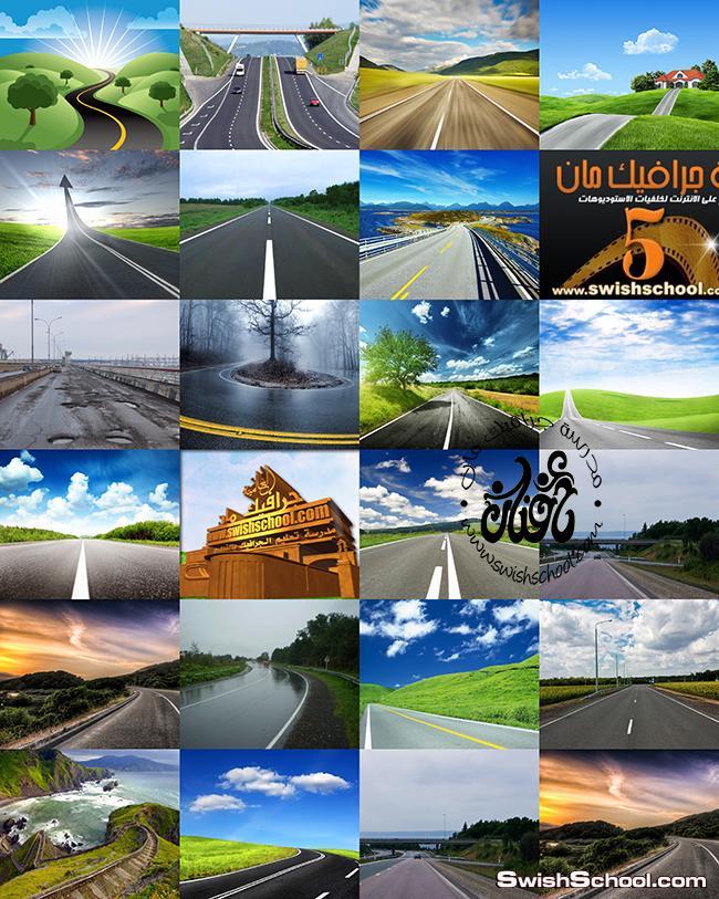 صوروخلفيات جرافيك طرق وشوارع سريعه على الاسفلت للتصميم jpg