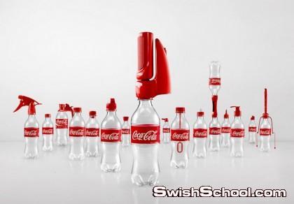 بالفيديو كوكاكولا تبتكر أغطية جديدة لزجاجاتها لتحولها الى أشياء مفيده
