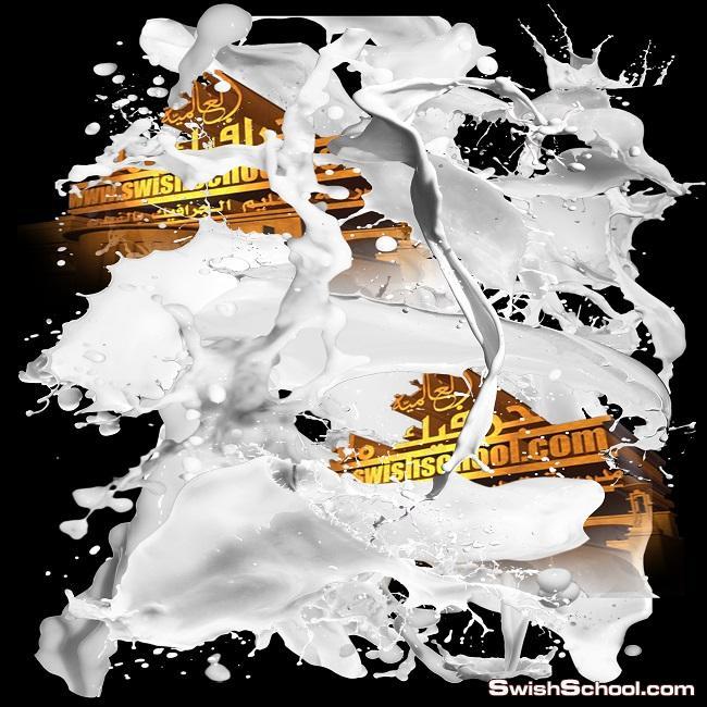 صور مقصوصه طرطشه الحليب psd - اروع صور الجرافيك لاشكال الحليب المتناثر