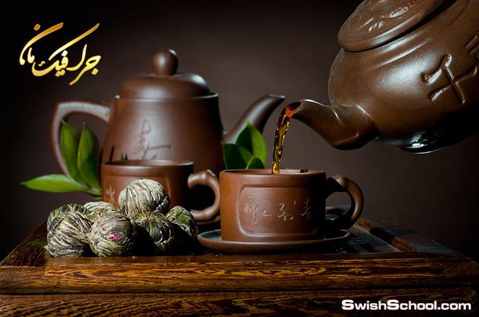 صور فناجين شاي مع الاعشاب عاليه الجوده لمحلات العطاره jpg