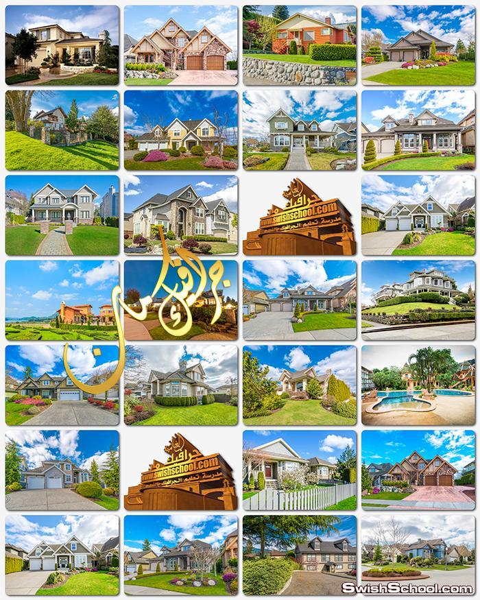 خلفيات بيوت وفلل فاخره عاليه الجوده للتصميم jpg