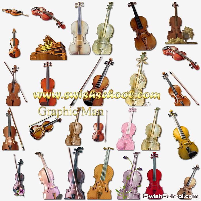 صور مفرغه كمانجا وجيتار png - سكرابز الات موسيقى للتصميم