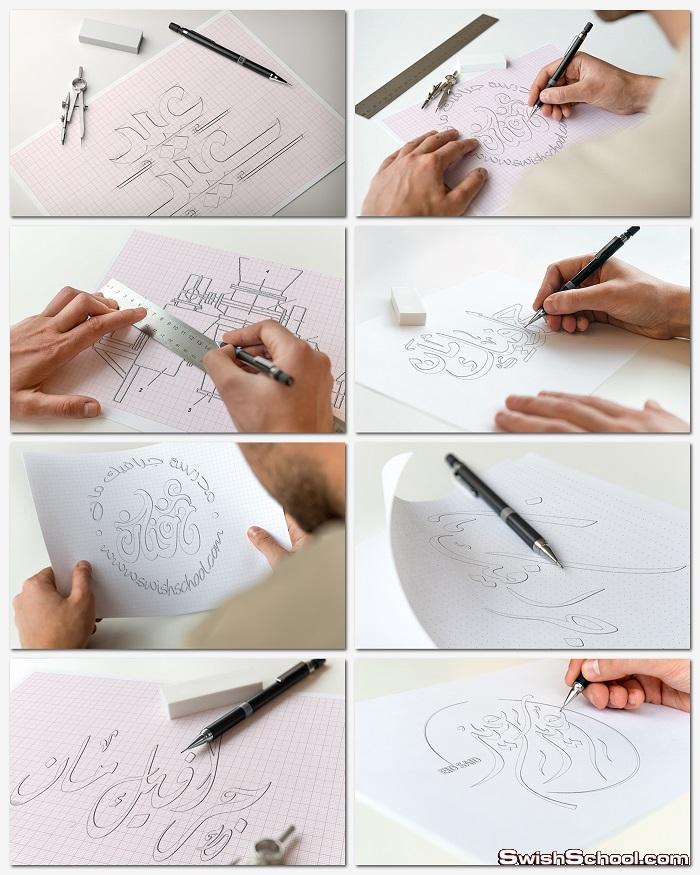 موك اب 8 مراحل للتصميم احترافي فوق العاده - mockup psd