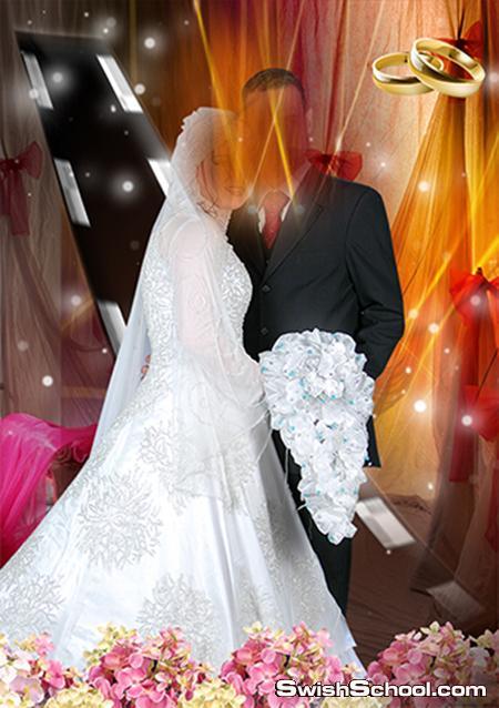 اجمل خلفيات استوديو زفاف واعراس psd خاص بمدرسه جرافيك مان من تصميم هاجر 2015