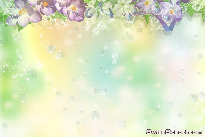 خلفيات فوتوشوب مع الورد وبالوان هاديه jpg - خلفيات شيك عاليه الجوده للتصميم