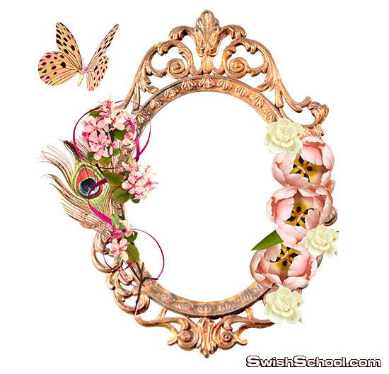 اجمل فريمات الورد والزهور بدون خلفيه png - ايطارات مقصوصه كيوت للفوتوشوب - المجموعه الاولى