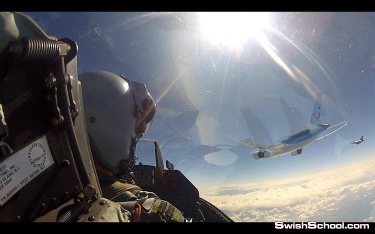 صور سيلفي نادرة لطيارين f16