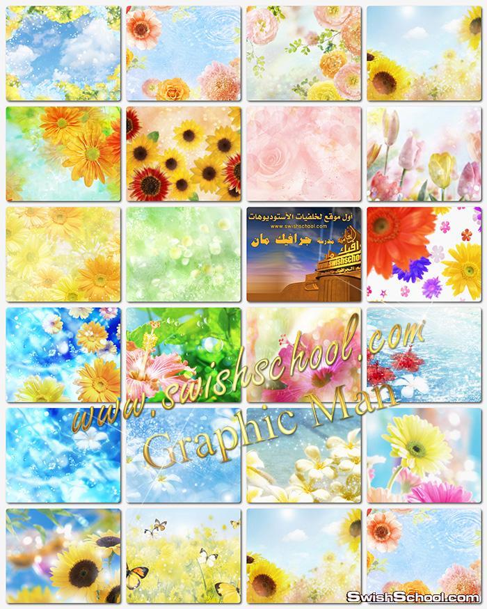 خلفيات ورد وزهور الربيع لتصاميم الفوتوشوب والتواقيع الرومانسيه jpg