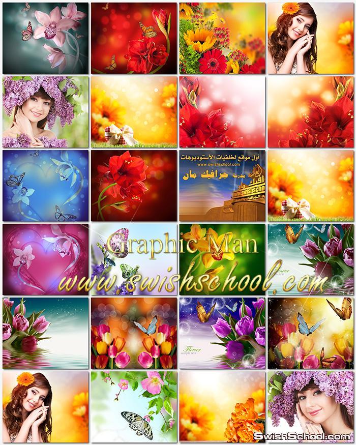 اروع خلفيات زهور وورد الربيع الساحر عاليه الدقه للتصميم jpg