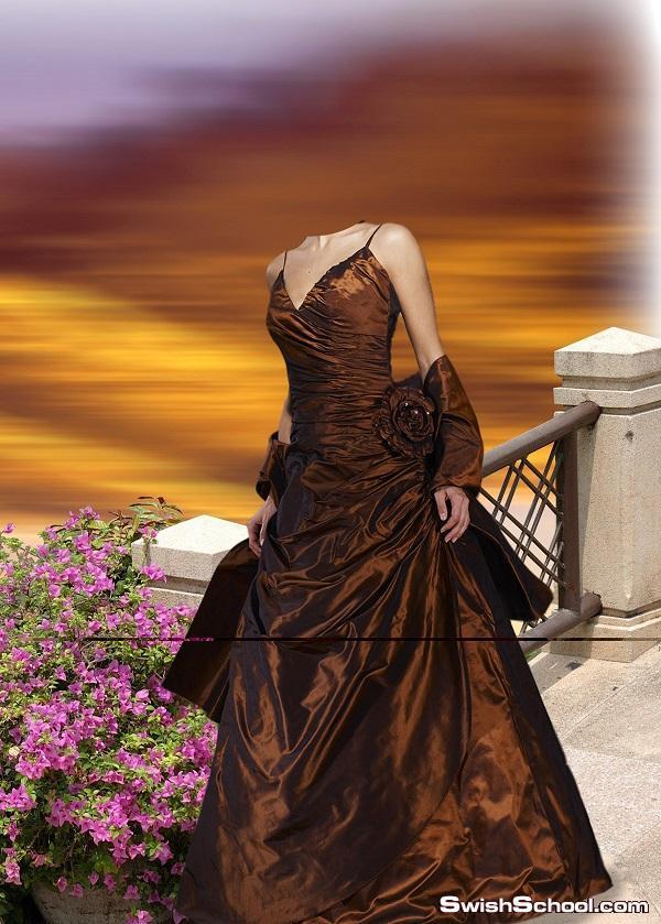فستان ملف مفتوحة للأستديوهات الزفاف 2011 على الميد فاير