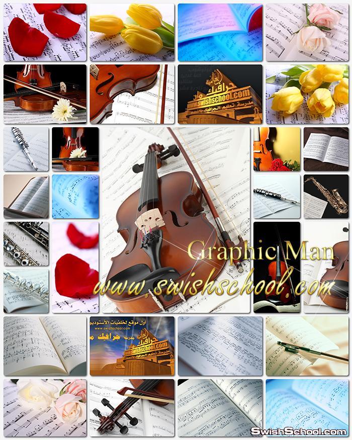 خلفيات وسكرابز موسيقى والحان للتصميم والتواقيع الرومانسيه jpg