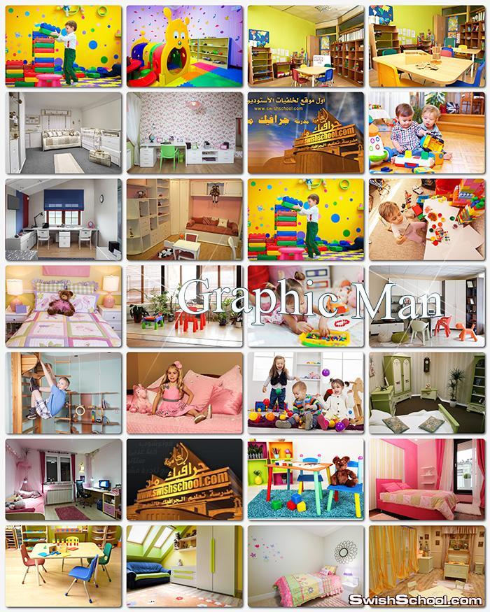 صور حضانه اطفال عاليه الدقه jpg - خلفيات غرف داخليه لتصاميم اطفال المدارس - غرف روضه اطفال للدعايه والاعلان