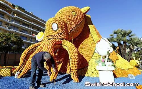 بالصور مهرجان البرتقال والليمون فى فرنسا