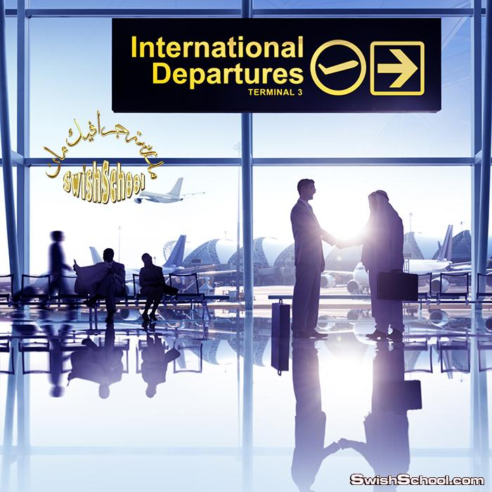 صور جرافيك مطار وقاعات سفر وركاب عاليه الجوده للتصميم jpg - صور ركاب ومسافرين للدذاين