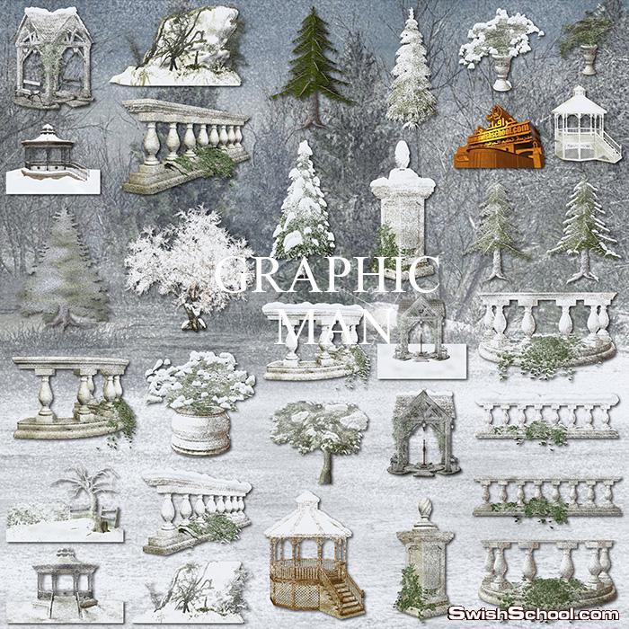 كليب ارت شتاء وثلوج لتصاميم الجرافيك 2013
