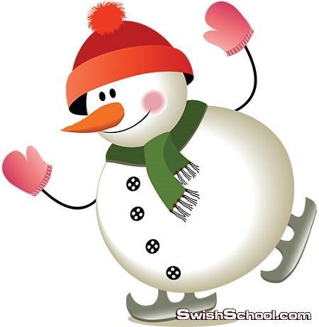صور مفرغه رجل الثلج png - مرفقات فوتوشوب الشتاء الجديد