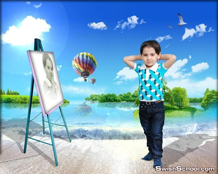 خلفيات اطفال من تصميمي - خلفيات استديو اطفال psd - حصريا لمدرسة جرافيك مان